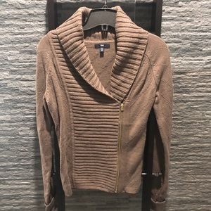 GAP XS Zip Front Sweater